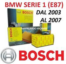 KIT TAGLIANDO 4 FILTRI ORIGINALI BOSCH BMW SERIE 1 E87 118D 90 KW- 120D 120 KW