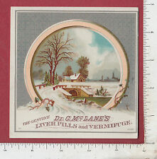 9269 C. McLane Liver Pills trade card Pittsburgh, PA J. L. Pattersom, Knox, PA