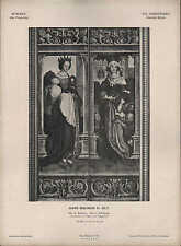 MÜNCHEN, Lithografie: XVI. Jh Deut Schule D hl. Barbara. Hans Hohlbein D Ältere
