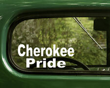 Cherokee Sticker Decal (2) Native American for Cars, Trucks, Rv, Laptops
