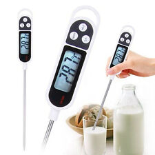 LCD DIGITAL FOOD MILK THERMOMETERS BBQ COOKING MEAT MEASURE PROBE °C °F WONDROUS