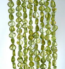 7X5-8X6MM  PERIDOT GEMSTONE  GRADE A GREEN PEAR NUGGET  LOOSE BEADS 14""