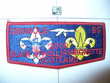 OA Seminole Lodge 85,S-32, 2000 Scotland Blair Atholl National Jamboree Flap, FL