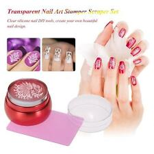 Nail Art Stamper Clear Jelly Stamper & Scraper Set Practical & Convenient K9U3