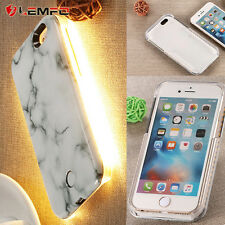 Hot 3D Marble Pattern LED Light Up Selfie Phone Back Case Cover for iPhone 6/6S