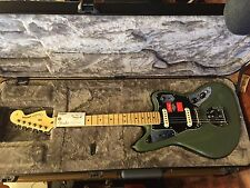 Fender American Pro Jaguar Antique Olive Electric Guitar 2017