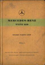 Mercedes Benz 219 Ponton 1956 lista De Repuestos Originales En Inglés