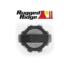 Rugged Ridge Elite Series Fuel Door - Brushed Aluminum - 07-16 Jeep Wrangler JK