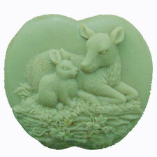 Deer and Rabbit - Handmade Silicone Soap Mold Candle Mould Diy Craft Molds 45