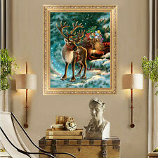 5D DIY Diamond Painting Christmas Deer Embroidery Cross Stitch Home Decor Crafts