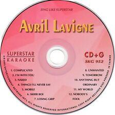 AVRIL LAVIGN Karaoke SKG-952 SuperStar CDG 12 TOP HITS