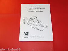 VINTAGE RUPP SNO-SPORT1969 SNOWMOBILE OPERATIONS , MAINTENANCE MANUAL