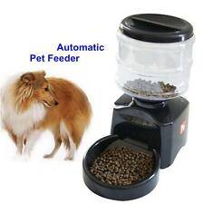 Automatic Pet Programmable Timer Food Feeder Dispenser Container for Dog Black /