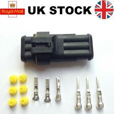 3 Pin Waterproof Connector Tyco AMP Superseal Car Truck Boat Electrical Kit