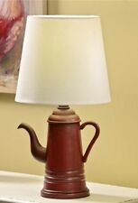 Gift Craft  Antique Coffee Pot Design Table Lamp with Lamp Shade