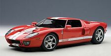 Autoart 2004 FORD GT RED/WHITE STRIPES 1:18*New!