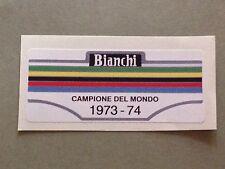 ADESIVO ETICHETTA STICKERS VINTAGE EDOARDO BIANCHI BIKE CAMPIONE DEL MONDO