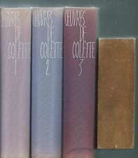 (66504) - COLETTE; Oeuvres (3 volumes)