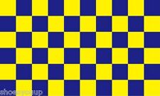 5FT X 3FT SURREY BLUE AND YELLOW CHECK FLAG WITH FREE UK P&P