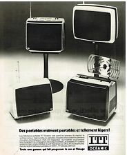 Publicité Advertising 1978 Les téléviseurs Portables ITT Oceanic