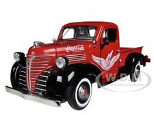 "1941 PLYMOUTH PICKUP TRUCK RED ""COCA COLA"" 1/24 BY MOTORCITY CLASSICS 438068"