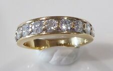 Valuation $4560 14K Yellow Gold 9 Diamond Ring with 1.26TCW size N1/2