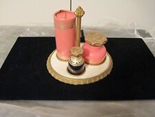 Vintage Avon 4 Piece Vanity Set W/TRAY UNFORGETTABLE POWDER/SACHET/PERFUME NOS