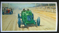SUNBEAM  Seagrave   French Grand Prix Tours  1923  Motor Racing Card   VGC