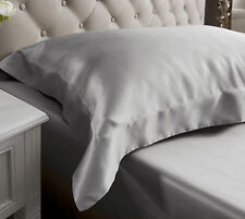 Jasmine Silk 19 MM Charmeuse Oxford Silk Pillow Case Grey RRP £35