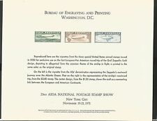 BUREAU OF ENGRAVING & PRINTING 23RD ASDA SHOW WASHINGTON DC GRAF ZEPPELIN SHEET