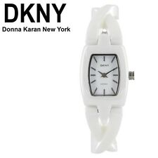 DKNY WOMEN'S WHITE TWIST LUXURY CERAMIC WATCH NY8728