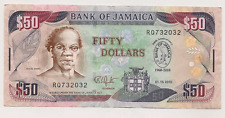 Bank of Jamaica $50 Bank Note ~ 50th Anniversary 1960-2010 ~ Bank Note