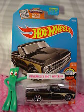 Case B 2016 Hot Wheels '67 CHEVY C10 pickup #143 ✰ Black;Gold; mc5✰HOT TRUCK