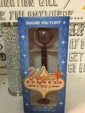 Las Vegas Pop Lollipop SUGAR FACTORY Flavor Candy Red Black Bling Crystal Handle