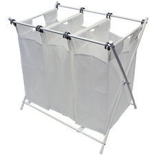 Sorbus Folding Laundry Basket Hamper & Foldable Sorter Cart,  3 Removable Bags