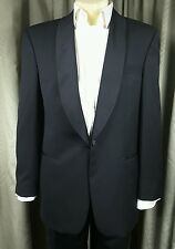 Yves Saint Laurent YSL 100% Pure New Wool Black Dinner Suit C40 W34 L30