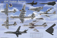 USAF Strategic Bomber Laminated Educational Military Airplane Chart Poster 24x36