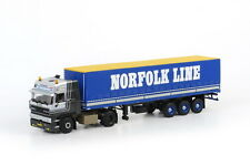 WSI 06-1013, DAF 3300 4x2 CAB WITH CURTAINSIDE TRAILER, NORFOLK LINE 1:50 SCALE