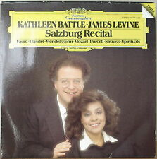 KATHLEEN BATTLE/JAMES LEVINE: Salzburg Recital-M1986LP DGTL w/ TEXT INSERT LIVE
