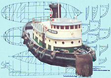 Build this RADIO CONTROL MODEL TUG BOAT PLANS 85' HARBOUR TUG F/S Plans on Cd