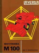 Mietitrebbia Laverda M 100 manuale uso e manutenzione, combine, moissonneuse