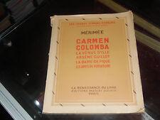 Carmen, Colomba, La Vénus d'Ille, Arsène Guillot, La dame de pique...Mérimée