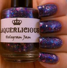 NEW! LAQUERLICIOUS Indie nail polish lacquer in HOLOGRAM JAM