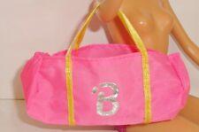Barbie vêtement accessoire sac de plage rose fluo