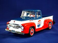 1:18 AutoWorld 1956 FORD F-100 Pickup Truck PEPSI Version Collection Diecast Car