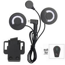 Motorcycle Motorbike Helmet Bluetooth Interphone Intercom Mic/Headset+Clip Mount