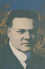 K1052 Herbert Clark Hoover - Ritratto - Stampa d'epoca - 1919 Old print