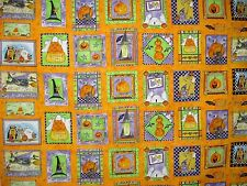 Cotton Quilt Fabric Happy Haunting Pat Yuille for MMfab BTY