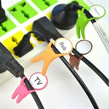 10pcs Mix Color Cute Small People Cable Winder Wire organizers Label Your Cable