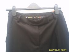 PAUL SMITH BLACK LABEL SIZE 40 WOMENS BLACK WOOL TROUSERS